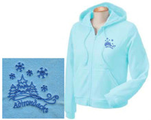 Ladies Light Blue Adirondack Hoodie