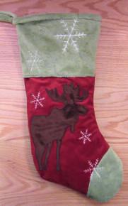 Plush Christmas Stocking - Moose