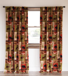 "Patchwork Lodge 84"" Curtains   SALE!"
