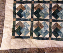 """Card Tricks"" Green and Brown Quilt - SALE"