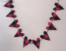 Buffalo Plaid Heart Garland