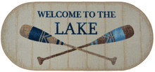 Welcome To The Lake Oval Rug