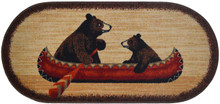 Bear Canoe Oval Rug