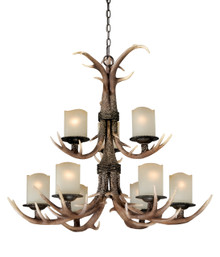 Rustic 9 Light Chandelier