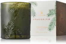 Frasier Fir Poured Candle Green Glass