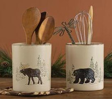 Rustic Retreat Utensil Crock