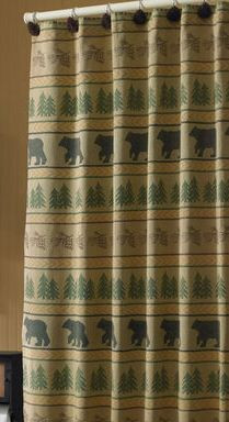 Bear Tracks Shower Curtain Image 1