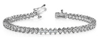 Two Prong Setting Style Tennis Bracelet