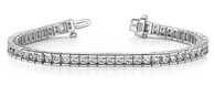 Channel Set Beautiful Tennis Bracelet