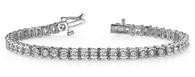 Semi Bezel Setting Round Cut Diamond Tennis Bracelet