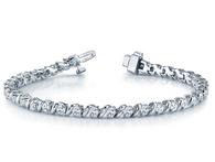 S-Link Round Cut Diamond Tennis Bracelet