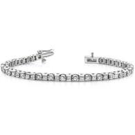 Alternate Round and Princess Cut Diamond Tennis Bracelet