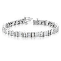 6ctw Round And Baguette Diamond Tennis Bracelet