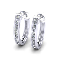Oval Shape Hoop Earrings