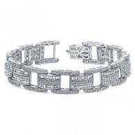 4.50ctw Rolex Style Milgrain Design Diamond Bracelet