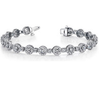 4.75ct Halo Design Round Diamond Bracelet