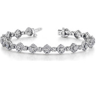 5.00ct Kite Halo Design Round Diamond Bracelet