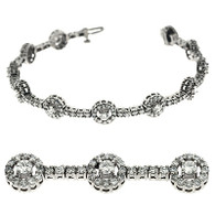 4.00ctw Halo Design Round Diamond Bracelet