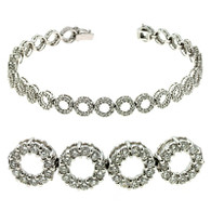 3.00ctw Circle Linked Round Diamond Bracelet