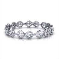 1.50ctw Diamond Floral Spray Bracelet