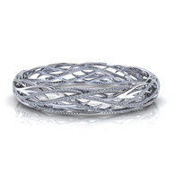3.00ctw Woven Design Diamond Bangle