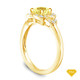 14K Yellow Gold Solitaire Ring Claw Prong Flower Petal Basket Design Yellow Sapphire Top View