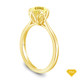 14K Yellow Gold Tapered Style Baguette Side Stones Engagement Ring Yellow Sapphire Top View