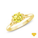 14K White Gold Cascade Waves Style Engagement Ring Yellow Sapphire Finger View