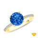 14K White Gold A Truly Vintage Hand Engraved Milgrain Engagement Setting Blue Sapphire Finger View