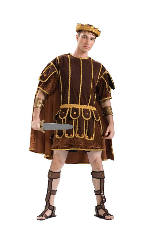 252160f2d Roman Soldier Costume Senator Warrior Adult L-XL Men Plus Size Greek Brown  - www.dazzlingcostumes.com