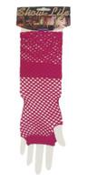 Fishnet Fingerless Gloves Lolita Retro Costume Accessory 80's Women's Glovelet