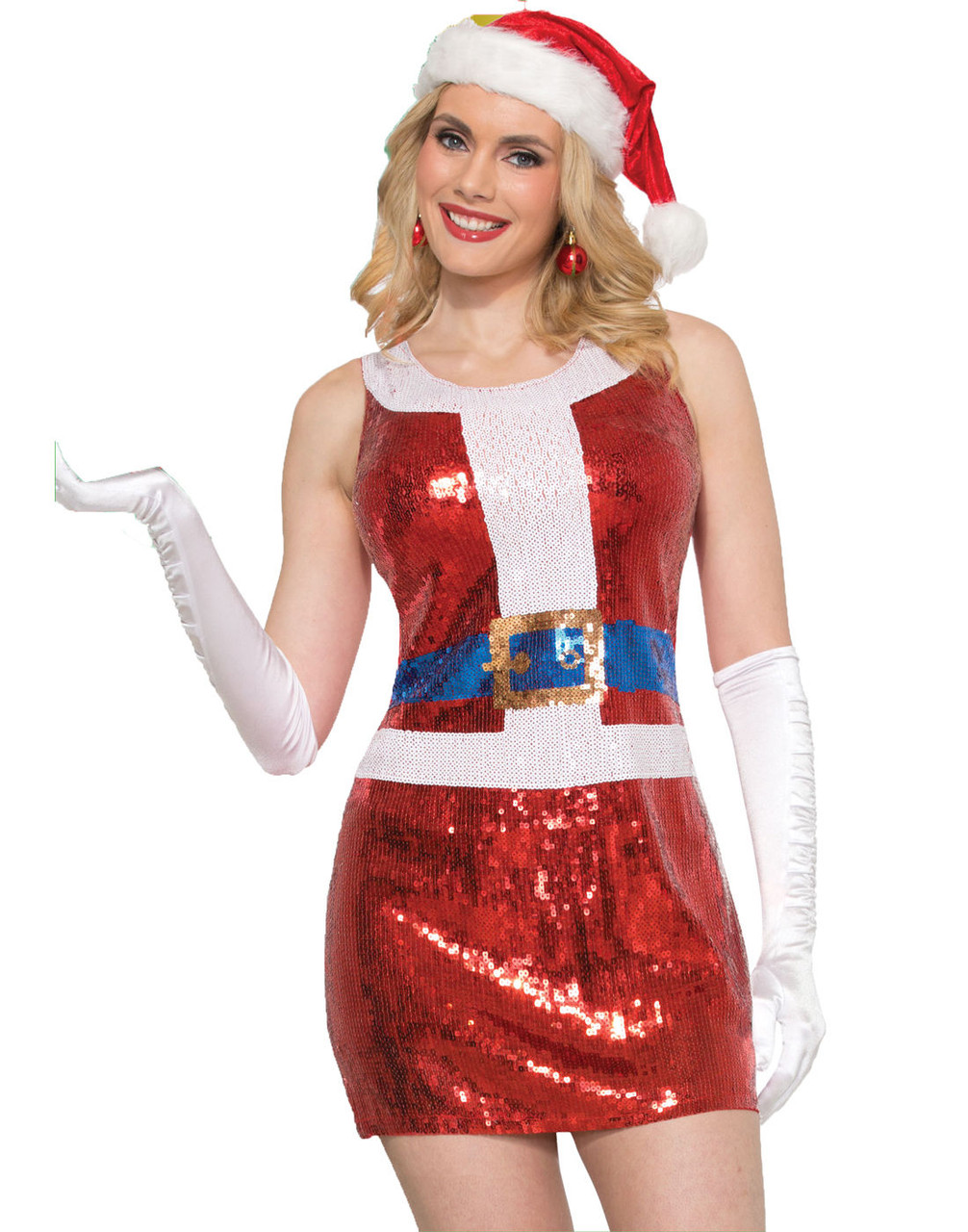 0cf8333038d8 Sexy Mrs. Santa Claus Sparkly Red Sequins Costume Fancy Dress Christmas  Women - www.dazzlingcostumes.com