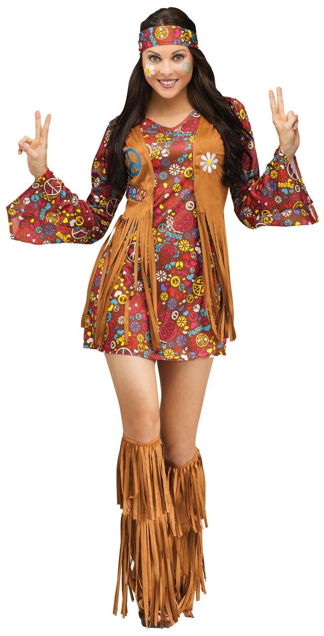 b75c741c89a The Groovy 60 s Adult Women Hippie Costume Peace   Love Flower Power -  www.dazzlingcostumes.com