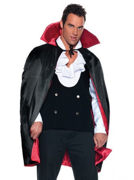 Halloween Costume 38.38 Deluxe Reversible Satin Cape Red Lining Adult Halloween Costume Accessory