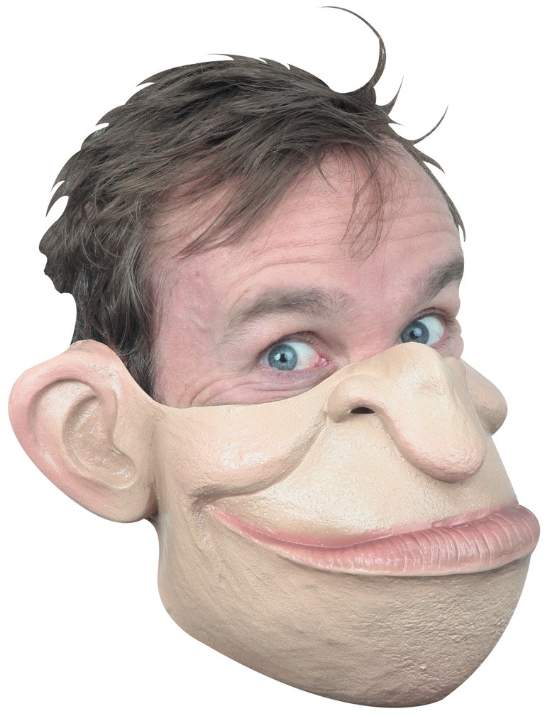 Ghoulish Productions Serial Killer 04 Front Face Latex Mask Adult Halloween New
