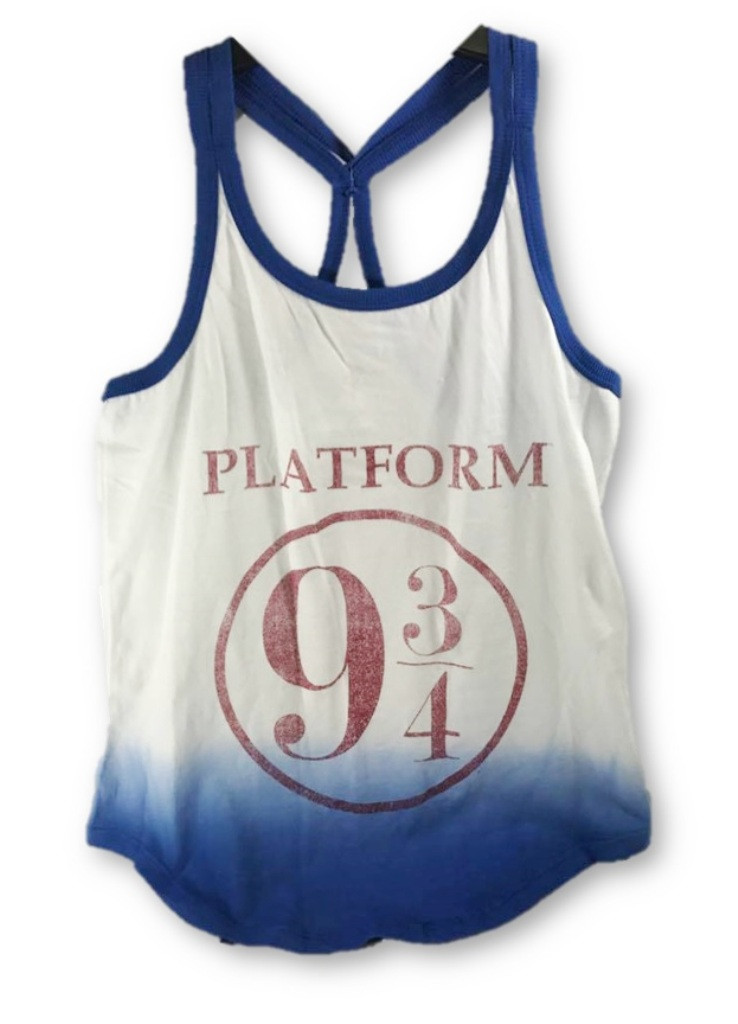65e4c2bd6065aa Harry Potter Platform 9 3 4 Dip Dye Strappy Racerback Junior Tank Top Small  Blue - www.dazzlingcostumes.com