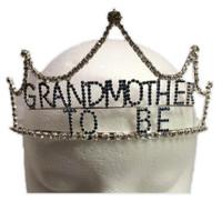 Baby Blue Rhinestone Grandmother To Be Tiara Crown Grandma Surprise Shower Gift