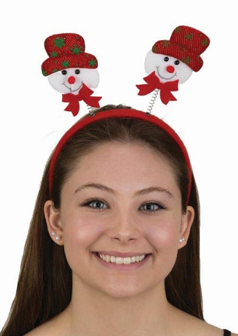 Cute Santa Claus Bopper Headband Christmas Headpiece Festive Costume Accessory