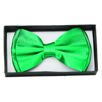 Green Satin Bow Tie Adult Adjustable Bowtie St. Patricks Costume Accessory