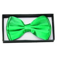 Green Satin Bow Tie Adult Adjustable Bowtie St. Patricks Costume Accessory