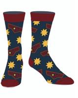 Captain Marvel Icon Casual Crew Socks Superhero Licensed Adult Mens 10-13