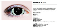 Primal Costume Contact Lenses Costume Acid II Green Cosplay Make-up Anime Stoned
