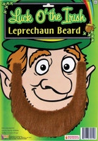 Luck O' The Irish Leprechaun Costume Beard St. Patricks Day Brown Self Adhesive