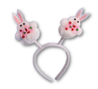 Cute Pom Pom Bunny Ears Headband Easter Adult Children Party Costume Accessory