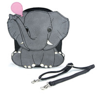 Sleepyville Critters Crossbody Purse Grey Elephant Pink Balloon Quality Vinyl