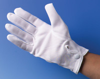 """8"""" White Gloves with Snaps Halloween Costume Accessory Adult Theatrical Clown"""