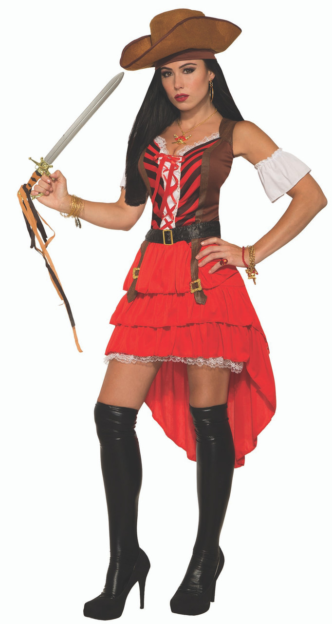 Buccaneer Pirate Captain Caribbean Adult Costume STD