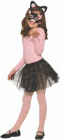 Black Pink Sequins Cat Kit Headband Ears Mask Tutu Kids Girls Costume Accessory