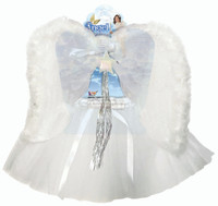 White Angel Kit Headband Wand Wings Tutu Kids Girls Costume Accessory 4-6