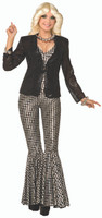 Women's Jazz Disco Black Sequin Blazer Jacket Costume Accessory Hip Hop Dancer